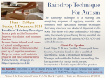 Raindrop Technique for Autism