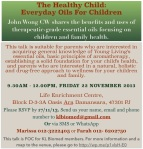 The Healthy Child- Everyday Oils for Children 22Nov2013